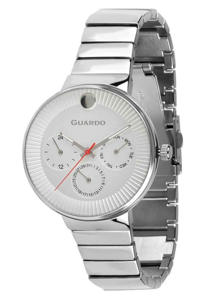 Часы женские Guardo B01400-(1)-2 серебряные