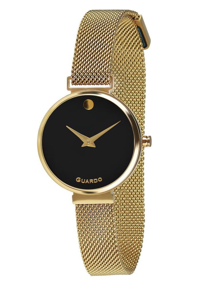 Часы женские Guardo B01401-3 золотые