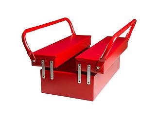 Ящик для инструмента металлический 330мм на 3 отделения Гранит