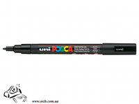 Маркер-краска Uni Posca Черный 0.9-1.3 мм Черный корпус