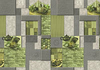 Обои Lanita виниловые на флизелиновой основе ЭШТ Корица 4-1209 серо-салатовый Скиф (1,06х10,05м.)