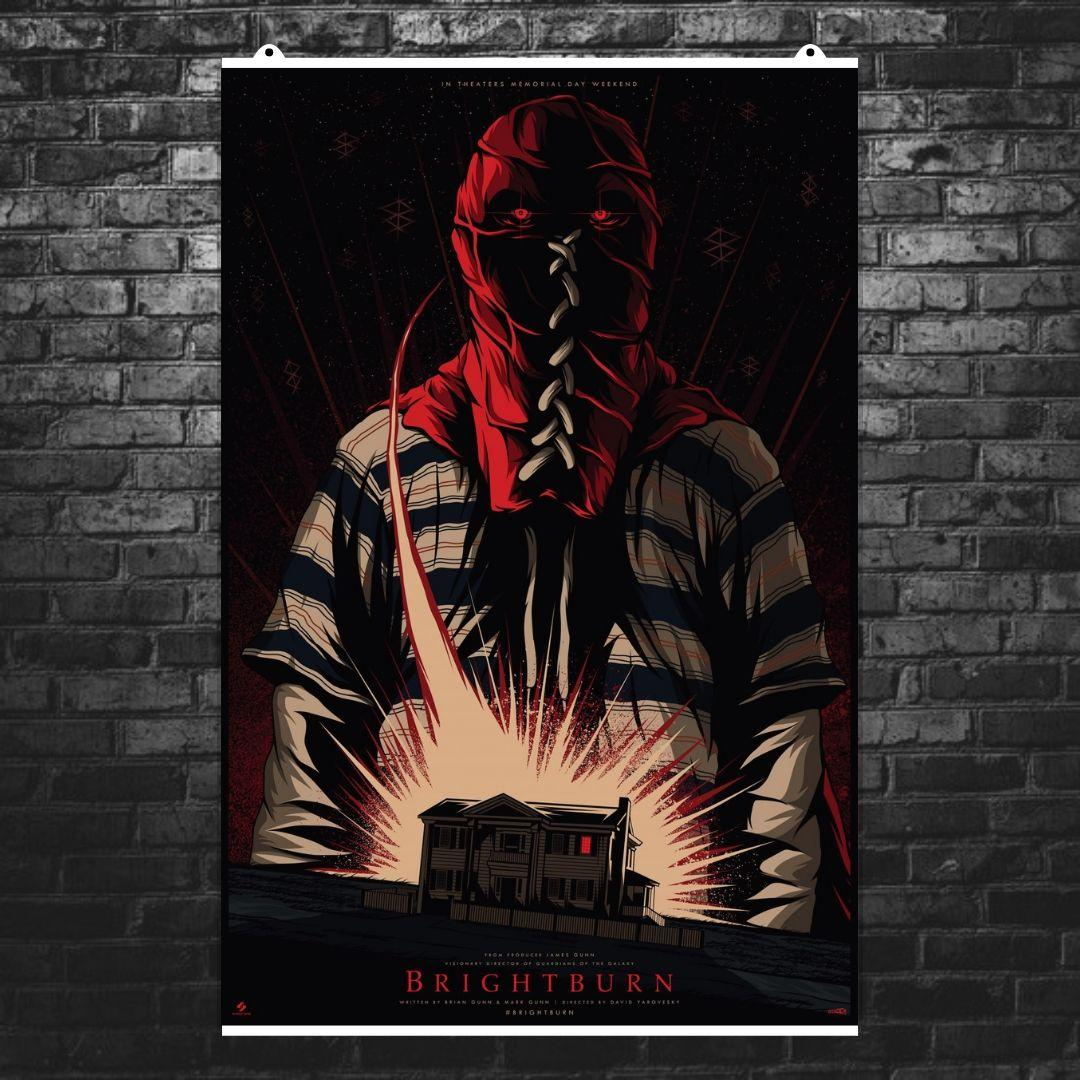 "Постер ""Гори, гори ясно"", Brightburn (2019), постер-рисунок. Размер 60x39см (A2). Глянцевая бумага"