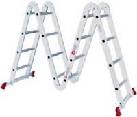 Лестница алюминиевая мультифункциональная трансформер 4*4 ступени 4.75 м Intertool LT-0029
