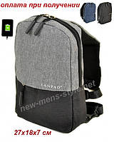 Мужская чоловіча спортивная тканевая сумка слинг рюкзак бананка LANPAD, фото 1
