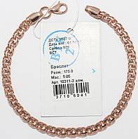 Серебряный браслет с позолотой 10311-Залм