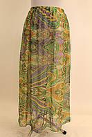 Длинная шифоновая юбка 42-52 р