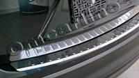 Накладка на задний бампер nissan X-trail (ниссан х-трейл) 2014-   БЕЗ ЛОГОТИПА, с загибом. нерж.