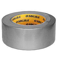 Лента армированная (серая) 50мм×25м Sigma (8419051)