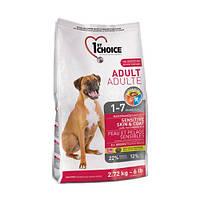 1st Choice ADULT SENSITIVE SKIN & COAT All Breeds - корм для собак с чувствительной кожей 15кг