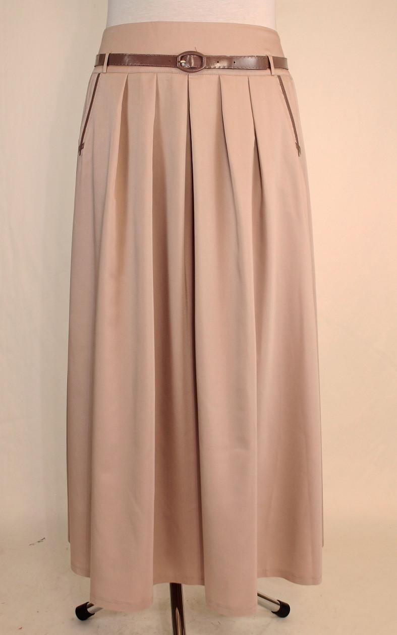 0c43d3777f49b Бежевая длинная юбка в пол 48-54 р - Оптовый интернет-магазин по продаже