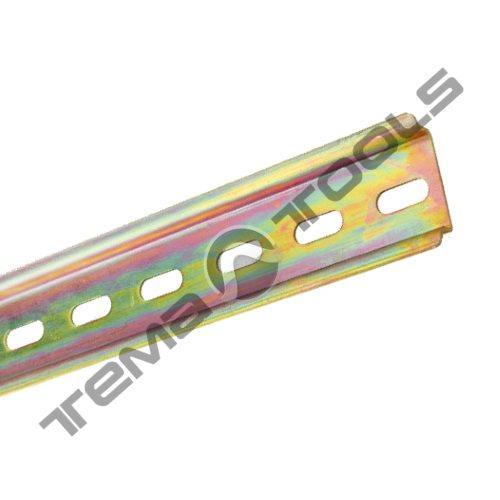 Монтажна DIN-рейка 35x7,5 мм перфорована товщиною 0,6 мм (1 метр)