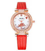Перламутровые женские наручные часы с цветком Отличные стильные надежные часы Интернет магазин Код: КДН5198