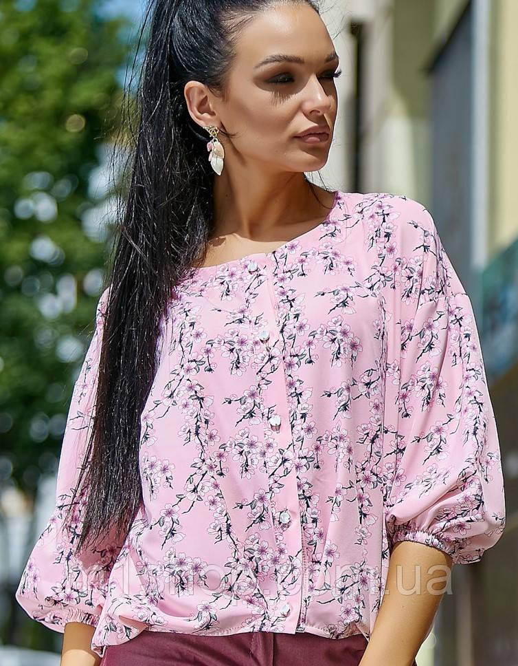 Женская блузка с широким рукавом (3551-3550 svt)