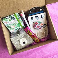 Surprise Box подарок для девушки с блокнотом фламинго, единорог