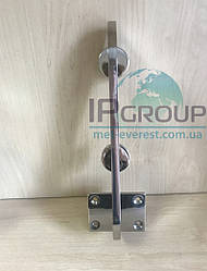 Стеклодержатель напольный с точечным креплением через стекло