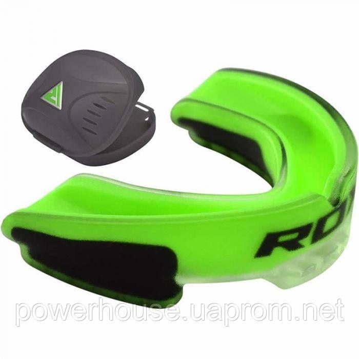 Капа боксерская RDX Gel 3D ELITE Grey, Green, White, Yellow, Blue