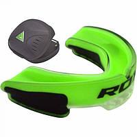 Капа боксерская RDX Gel 3D ELITE Grey, Green, White, Yellow, Blue, фото 1