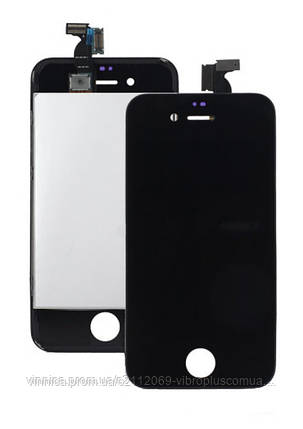Модуль (Дисплей + сенсор + рамка) Apple iPhone 4S with touch and frame black s/k, фото 2