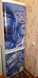 Магнит на холодильник с фотоизображением 180х60 см.