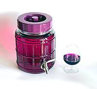 Бутыли, банки, диспенсеры для вина с краном и без
