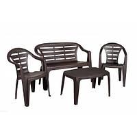 Комплект садовой пластиковой мебели Maduro Set шоколад