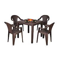 Комплект садовой мебели King Ischia 4 коричневый