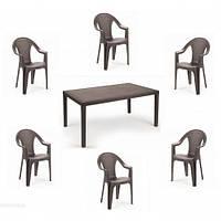 Комплект садовой мебели Prince Ischia 6 коричневый, фото 1