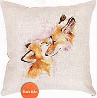 Luca-s Набор для вышивания Подушка Две лисички