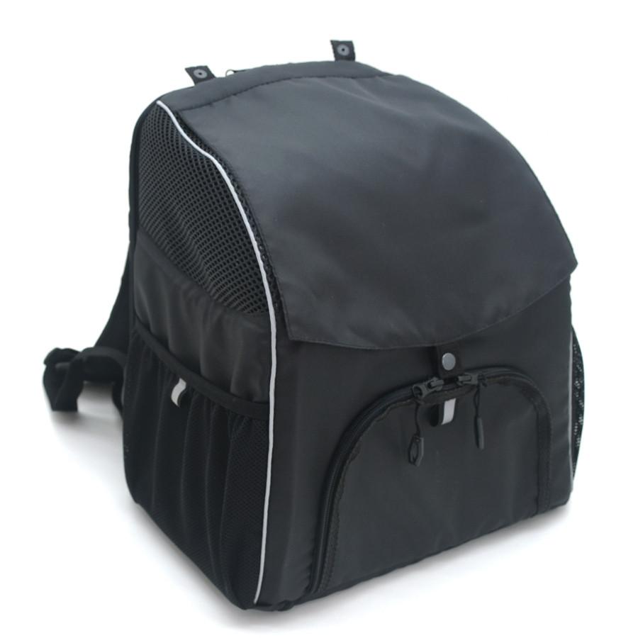 Рюкзак для переноски котов и собак Турист №0 16 х 26 х 30 см черный