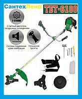 Бензокоса Тайга ТБТ 6100 Professional (3 Ножа ,1 Катушка), фото 1