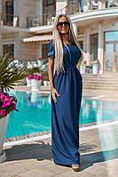 """Длинное джинсовое летнее платье """"Dawn"""" с коротким рукавом"""