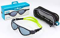 Очки-полумаска для плавания MadWave FLAME (поликарбонат, термопластичная резина, силикон)