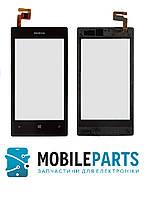 Сенсор (Тачскрин) для Nokia Lumia 520 | 525 С рамкой (Черный) Оригинал Китай