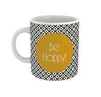 "Кружка с надписью ""Be happy"", фото 1"
