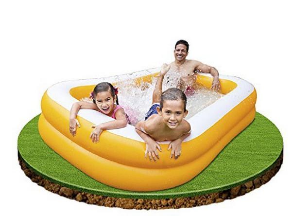 Пляжный детский бассейн.Бассейн детский прямоугольный.Бассейн Интекс семейный.