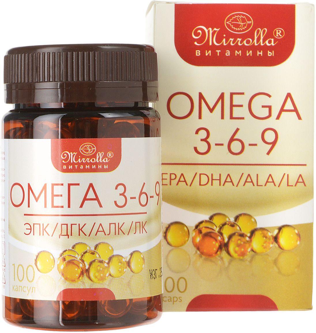 Омега 3-6-9 Мирролла 370 мг 100 капсул (4650001796714)