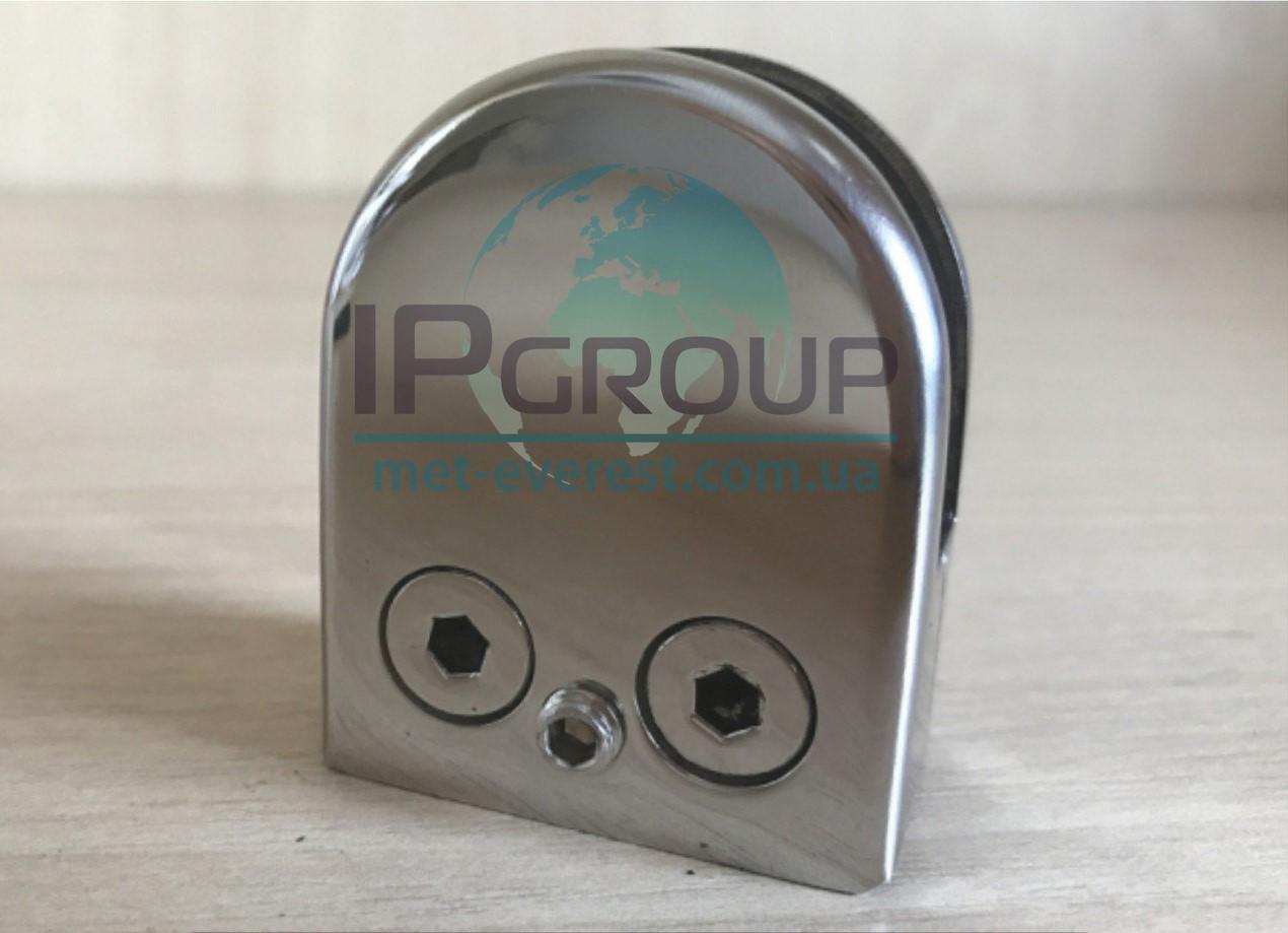 Стеклодержатель штампованный под стекло 8 мм под трубу 38,1 мм
