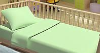 Детское постельное белье для младенцев Kidsdreams - Горошки зеленое