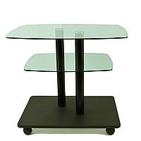 Стол журнальный стеклянный прямоугольный Commus Bravo Light P6 green-venge-2bl50