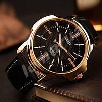 Чоловічі кварцові годинники Yazole 358 Black
