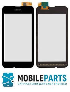 Сенсор (Тачскрин) для Nokia Lumia 530 (Черный) Оригинал