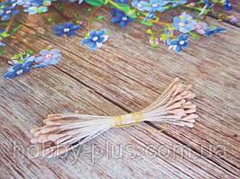 Тычинки мелкие, матовые, цвет пудровый, 50 нитей, 100 головок