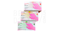 Перчатки нитрил розовые Prestige Medical 50пар/упак (XS)