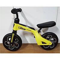 Детский беговел (велобег) Crosser Balance Bike Looper 10 дюймов желтый
