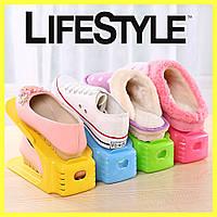 Двойные подставки для обуви Double Shoe Racks LY-500, Органайзер для обуви - Комплект 4 шт, фото 1