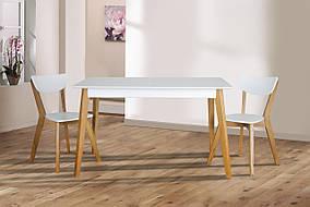 Комплект Сингл+Рондо (стол+2 стула) Белая эмаль+Дуб (Микс мебель)
