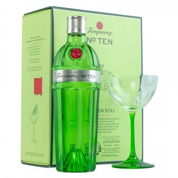 Джин Tanqueray №10 GiftBox + glass (Танкерэй 10 со стаканом) 47.3%, 0,7 литра