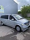 Рейлинги на крышу Mercedes Vito W639 2003-2014 полированный алюминий, короткая и средняя база, фото 5