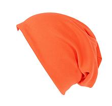 Шапка чулок для подростков и взрослых ярко-оранжевая