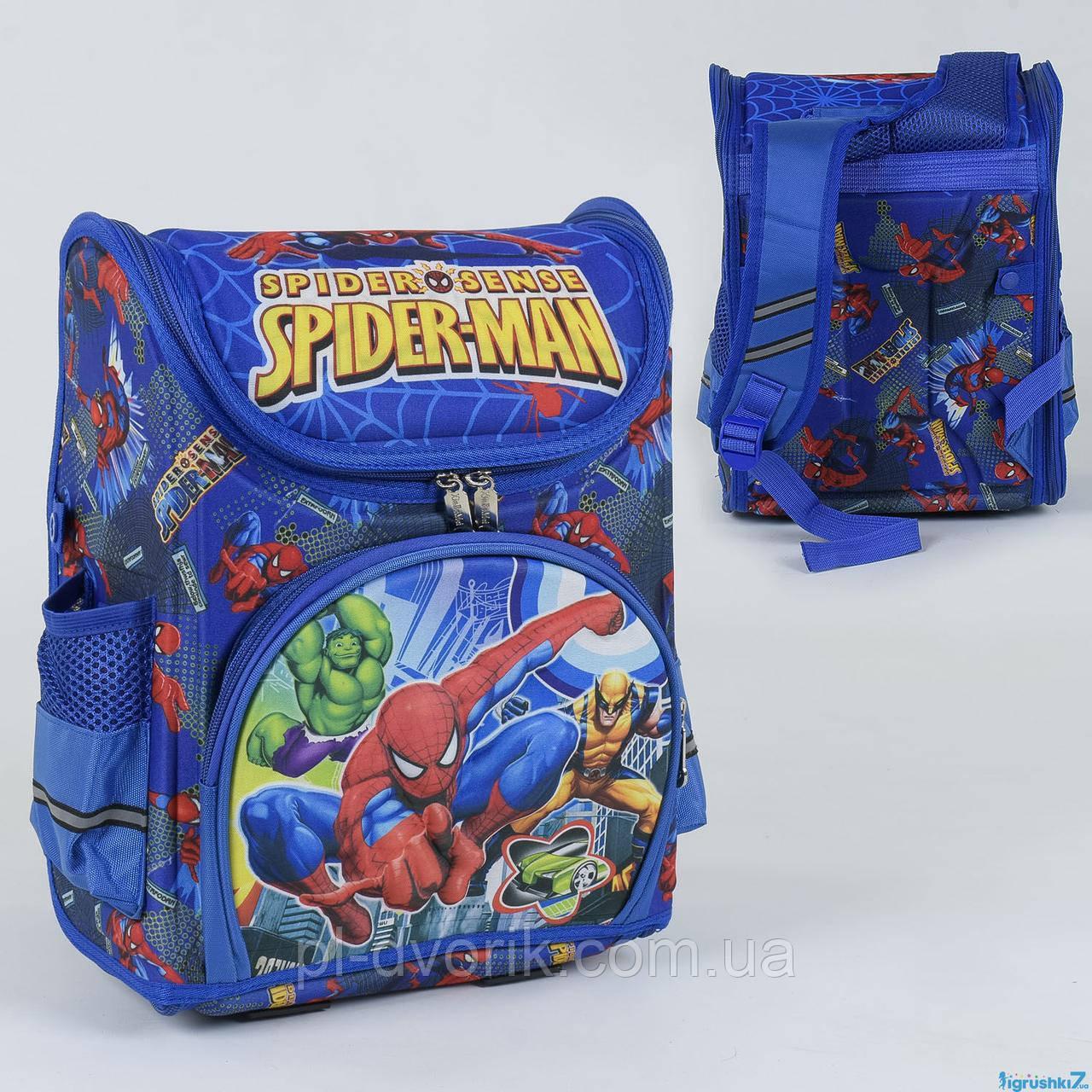 Рюкзак школьный каркасный С 36162 (50) 1 отделение, 3 кармана, спинка ортопедическая, 3D принт  Размер упаковк